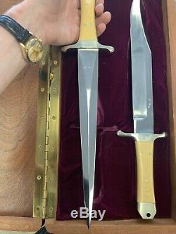 Enedino De Leon Custom Bowie Knife & Dagger Set 12 Blade, Overall 17 Hand Made