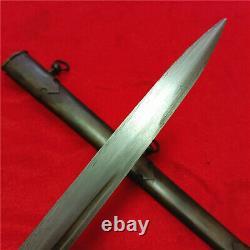 European Dagger Short Sword Knife Signed Blade Steel Scabbard Full Tang A22