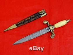 FABULOUS ANTIQUE DAGGER SPAIN TOLEDO 1859 PRESENTATION GRADE sword knife blade