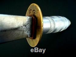 German Boot Combat Knife Dagger PUMA Solingen Etched Blade RARE