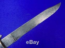 German Germany WWI WW1 Large Fighting Knife Dagger Short Sword Signed Blade