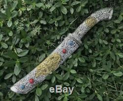 High Quality Handmade Tibetan Sword Knife Razor Sharp Spring Steel Blade Dagger