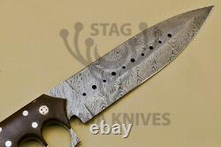 John Henry HAND FORGED DAMASCUS STEEL FULL TANG KNIFE DAGGER BLADE MICARTA