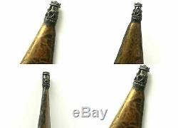 Judaica Jewish Knife Antique Large Dagger Ornate Blade Double Head Masonic Eagle