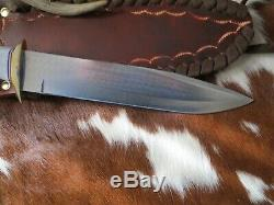 Knife Pig Sticker Toothpick Dagger Ken Richardson CUSTOM CROWN HORN 9 BLADE
