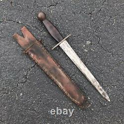 Large wwii theater made fixed blade trench art fighting knife dagger sword