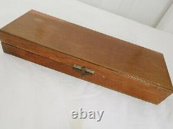 Linder DAGGER Inox Rostfrei KNIFE with wood BOX 6 Blade Solingen Germany
