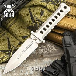 M48 OPS Combat Tactical CNC Machine D2 Steel Fixed Blade Dagger Knife with Sheath