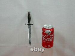MAGNIFICENT QUALITY ANTIQUE SMALL SPANISH DAGGER KNIFE SPAIN TOLEDO BLADE sword