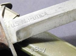 MINT WWII US M3 UTICA Trench Fighting Knife Dagger Airborne Blade Mark with M8