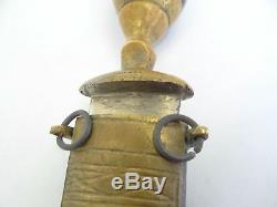 Metal Brass American Eagle Unusual Dagger Knife Blade Scabbard Lebanese 1950s