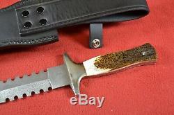 Mint United UC328 Iron Cross Knife Dagger Damascus Blade withSheath + Box