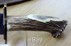 Muela Large 17 Podenquero Knife WithStag Handle/Dagger Blade/Leather Sheath ke