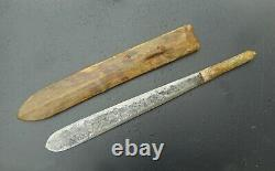 Old Ethnic Massai Knife, Circa 1930, Engraved Blade With A K K A, African Dagger
