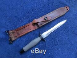 Original 1971 Canted Blade Gerber Mk2 Knife Dagger Stiletto And Sheath