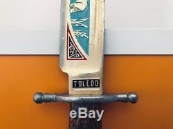Original Toledo bowie knife FINE CONDITION vintage Toledo steel 6 1/3 blade