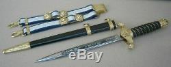 Perfect Bulgarian Police Officer Parade Dagger Set 2003, dirk, blade, knife