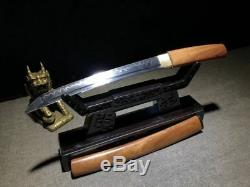 Quality Tanto Katana style Sword T10 Clay Steel Blade Dagger Temper Knives