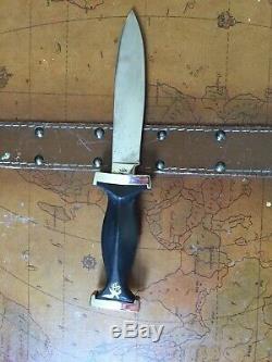 RARE! Vintage ERN SOLINGEN Germany German Fixed Blade Knife Dagger Bowie Sharp