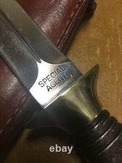Rare/Vintage Kershaw Special Agent Fixed Blade Boot Knife By Kai Japan with Sheath