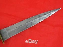 SUPERB ANTIQUE LUZON FILIPINO DAGGER KNIFE Philippines Spanish Style Blade Sword