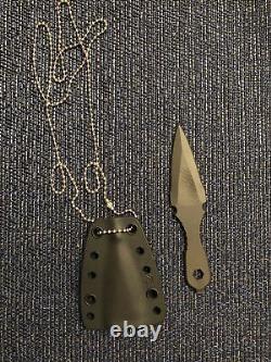 Spartan Blades Fixed Velos Lapel Dagger/Multitool SpartaCoat PVDBlack Neck Knife