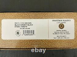 Spartan Blades Les George V14 Dagger Black/Green knife NEW