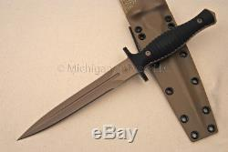 Spartan Blades V-14 Dagger Knife CPM S35-VN SS FDE / Black G10 & Tan Kydex