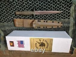 Spartan Blades V-14 Knife Dagger green g10 tan blade and tan Sheath S35 VN