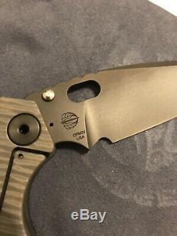 Strider Knives SNG Thickass Dagger Grind Monkey Edge Frag Pattern 3V Blade NEW