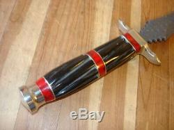 Superb Custom Buck Wbc 976 Knight Dagger Knife Tear Drop Damascus Blade 20yr 971