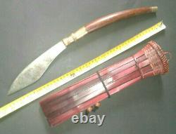 Thai Sword Holy Buddha Antique Monk Ceremonial Knife Sheath Primitive Blade