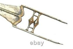 Tiger Knife Dagger Handmade Antique Wootz Steel blade Katar 12