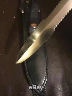 Vintage 1978 Wasp Waist Gerber Mark II Knife L6 Tool Steel Blade USA 2 Dagger