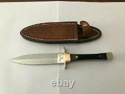 Vintage 1980 Case XX USA P62 4 1/2 Ss Fixed Blade Dagger Boot Knife Orig Sheath