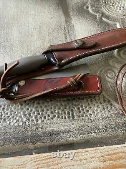 Vintage And Rare! Gerber Mark II Survival Knife With Double Edge Dagger Blade