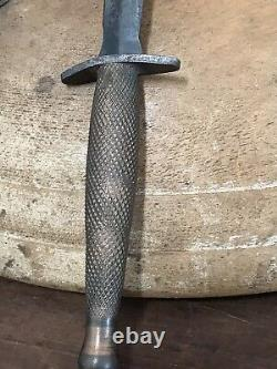 Vintage Antique 1900's WWII WWI Military Trench Dagger Knife Fixed Blade Rare