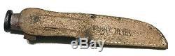 Vintage Antique Military Vietnam War Etched Fixed Blade Dagger Knife Sheath Old