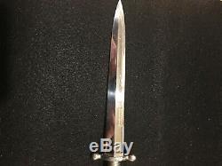 Vintage Knife, Dagger Anton Wingen Jr, Germany. Stag Handles, 6 blade 10 3/4'