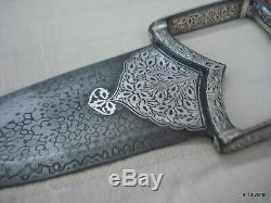 Vintage Knife Katar damascus steel blade knife dagger handmade