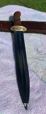 Vintage Large Dagger Knife 8 1/2L Blade With Sheath