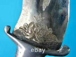 Vintage Old India Made Kris Blade Small Fighting Knife Dagger