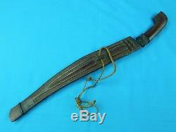 Vintage Old Philippines or Indonesian Curved Blade Short Sword Knife Dagger