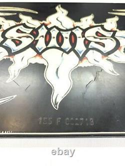 Vintage Sims Fakie Blade Snowboard Graffiti Fire Germany Knife Dagger RARE