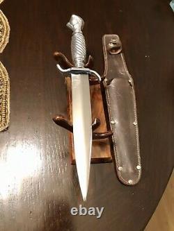 Vintage fixed blade knife. Hoffritz N. Y. Germany dagger. Ball Claw handle