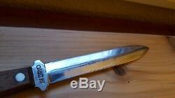 Vtg CASE XX 1940-1965 Pig Sticker Commando Dagger Knife with Sheath USA 6.5 blade