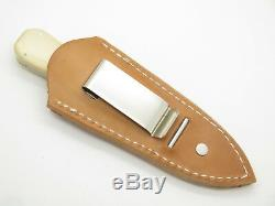 Vtg Khyber Ka-bar 2751 Seki Japan Micarta Dagger Fixed Blade Knife & Sheath