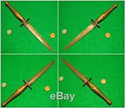 Vtg Sheath WW2 Blade F. Sykes STILETTO 2 Pd Fighting Knife #1 Dagger Fold case