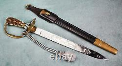 WW2 German Forestry Hunting dress Dagger knife sword etched blade estate cutlass