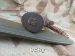 WW2 US Army M3 Trench Fighting Knife PAL Blade Marked M8 Scabbard Dagger